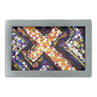 The Cross with a touch of abstract. Belt Buckle