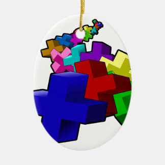 The Crosses Christmas Ornament