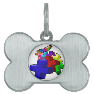 The Crosses Pet Name Tag