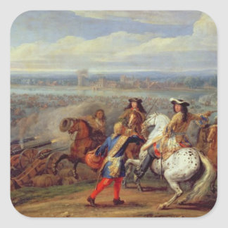 The Crossing of the Rhine, 12th June 1672 (oil on Square Sticker