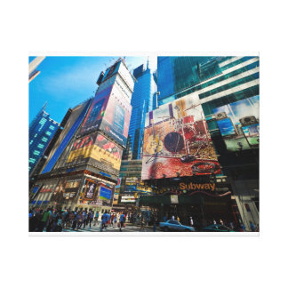 """The Crossroads of the World"" Stretched Canvas Print"
