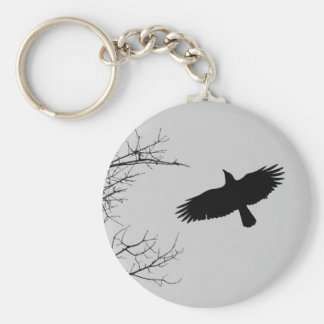The Crow Basic Round Button Key Ring
