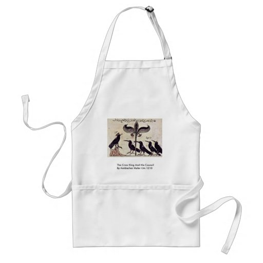 The Crow King And His Council By Arabischer Maler Apron