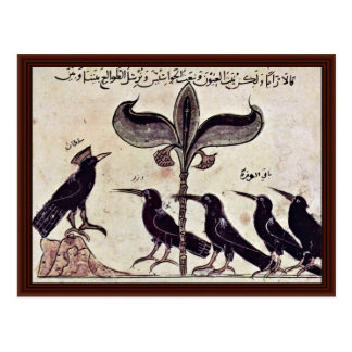 The Crow King And His Council By Arabischer Maler Postcard