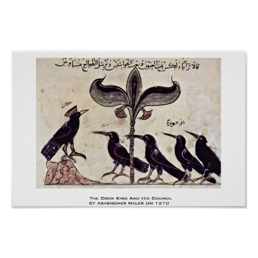 The Crow King And His Council By Arabischer Maler Poster