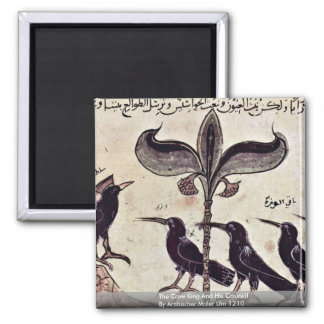 The Crow King And His Council By Arabischer Maler Square Magnet