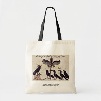 The Crow King And His Council By Arabischer Maler Bags
