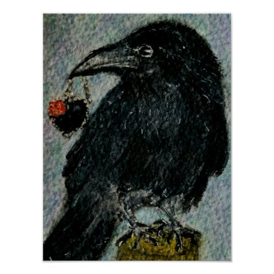 'The Crow that stole the Necklace!' Watercolour g