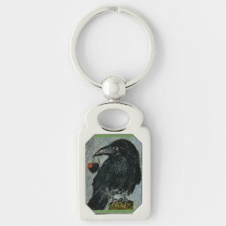'The Crow that stole the rose heart necklace!' Key Ring