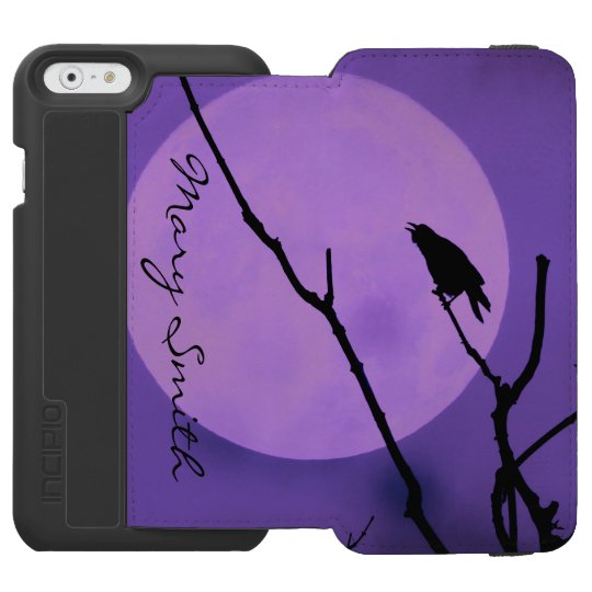 The Crow, The Moon, The Purple Sky *Personalise* Incipio Watson™ iPhone 6 Wallet Case
