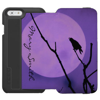 The Crow, The Moon, The Purple Sky *Personalize* Incipio Watson™ iPhone 6 Wallet Case