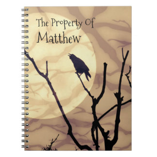 The Crow, The Moon, The Shadows *personalize* Notebook
