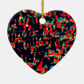 The Crowded Harbour Ceramic Heart Decoration
