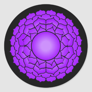 The Crown Chakra Classic Round Sticker