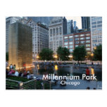 The Crown Fountain, Millennium Park, Chicago Postcard