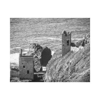 The Crown Mines engine houses, Botallack, Cornwall Canvas Print