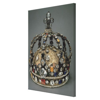The Crown of Louis XV, 1722 (gilded silver, replac Canvas Print