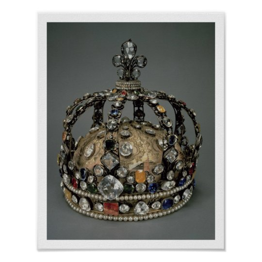 The Crown of Louis XV, 1722 (gilded silver, replac Poster