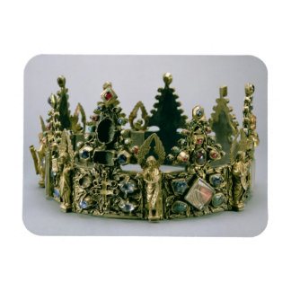 The crown of St. Louis, 13th century (silver-gilt Rectangular Photo Magnet