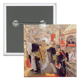 The Crowning of Emperor Nicholas II 15 Cm Square Badge