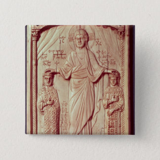 The Crowning of Otto II  and Theophrano 15 Cm Square Badge
