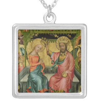 The Crowning of the Virgin, from the right wing Silver Plated Necklace