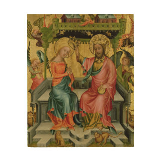 The Crowning of the Virgin, from the right wing Wood Canvases