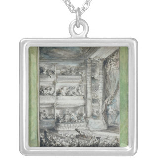 The Crowning of Voltaire at the Theatre Francais Silver Plated Necklace