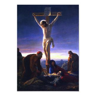 The Crucifixion.Fine Art Customizable Card 13 Cm X 18 Cm Invitation Card