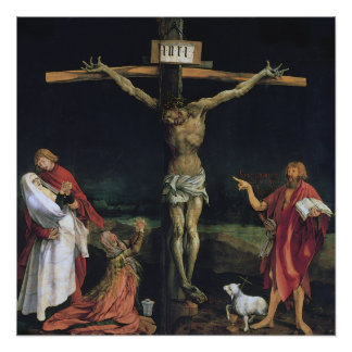 THE CRUCIFIXION FROM THE ISENHEIM ALTAR PIECE.