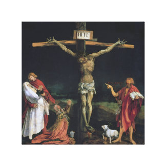 THE CRUCIFIXION FROM THE ISENHEIM ALTAR PIECE. CANVAS PRINTS