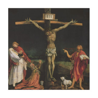 THE CRUCIFIXION FROM THE ISENHEIM ALTAR PIECE. WOOD CANVASES