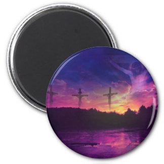 The Crucifixion of Jesus Christ 6 Cm Round Magnet