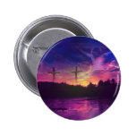 The Crucifixion of Jesus Christ on the Cross 6 Cm Round Badge