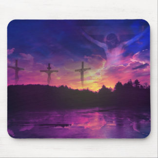 The Crucifixion of Jesus Christ on the Cross Mouse Mat