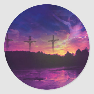 The Crucifixion of Jesus Christ Round Sticker