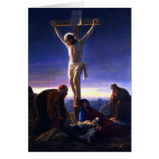 The Crucifixion of Jesus. Fine Art Card