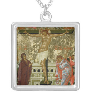 The Crucifixion of Our Lord Silver Plated Necklace