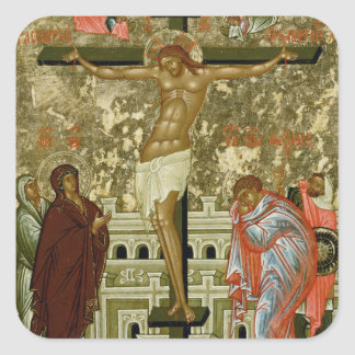 The Crucifixion of Our Lord Square Sticker