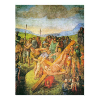 The Crucifixion of St. Peter Postcard