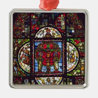 The Crucifixion Silver-Colored Square Decoration