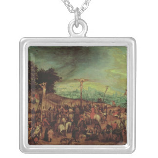 The Crucifixion Silver Plated Necklace