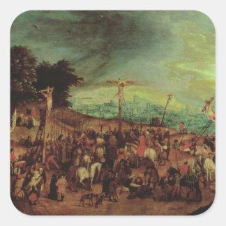 The Crucifixion Square Sticker