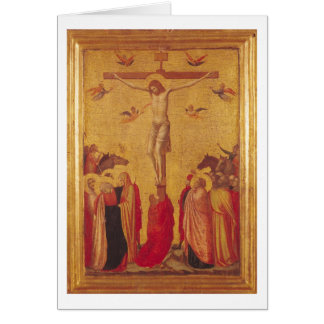 The Crucifixion (tempera on panel) Card