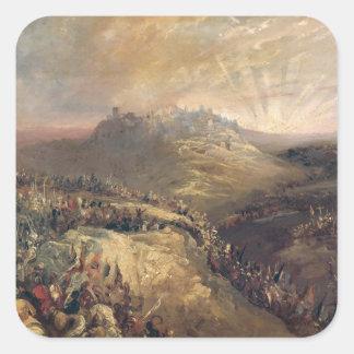 The Crusaders Before Jerusalem Square Sticker