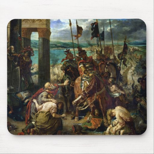 The Crusaders' entry into Constantinople Mousepads