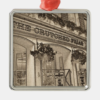 The Crutched Friar Public House Silver-Colored Square Decoration