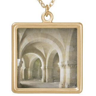 The Crypt, c.1144 (photo) Square Pendant Necklace