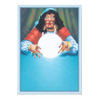 The Crystal Ball © 13 Cm X 18 Cm Invitation Card