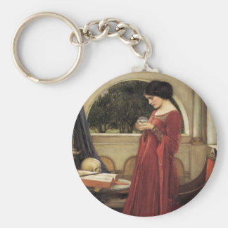 The Crystal Ball Basic Round Button Key Ring